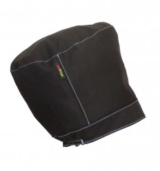 """""""BLACK LIGHT"""" Hat for dreadlocks without peak, with coloured topstitching"""