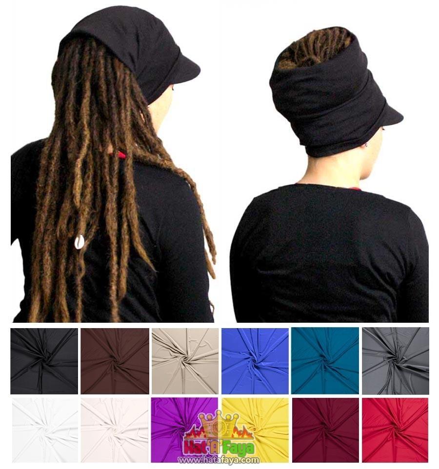 Visière stretch - Casquette Tube - couleur au choix - Chapeau pour dreadlocks