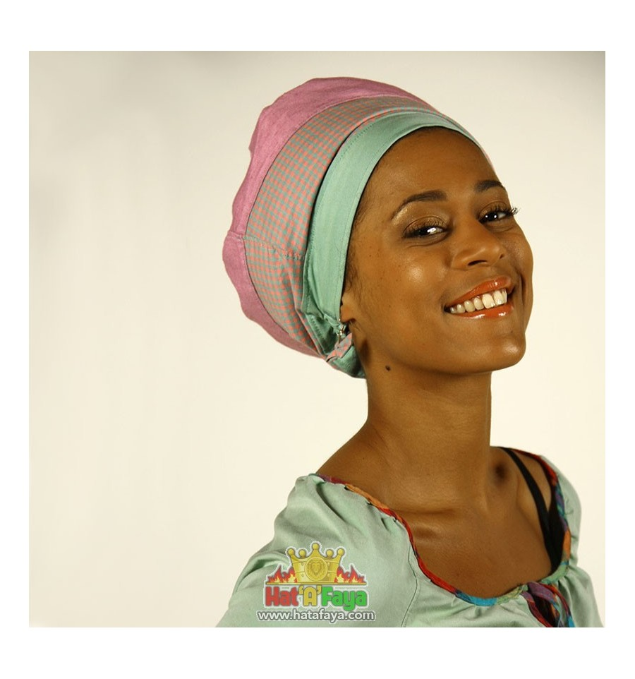 "SWEETIE Tam, Hat for dreadlocks or natural hair, Rasta Crown, 21.2"" to 25.2"" (54 à 64 cm) Size M"