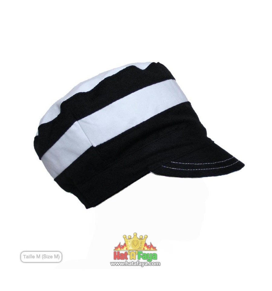 "STRIPE - Bicolor hat for dreadlocks, Rasta Crown, Cap, 54-66cm (21.2""-26""), for Men or Women, Made to order"