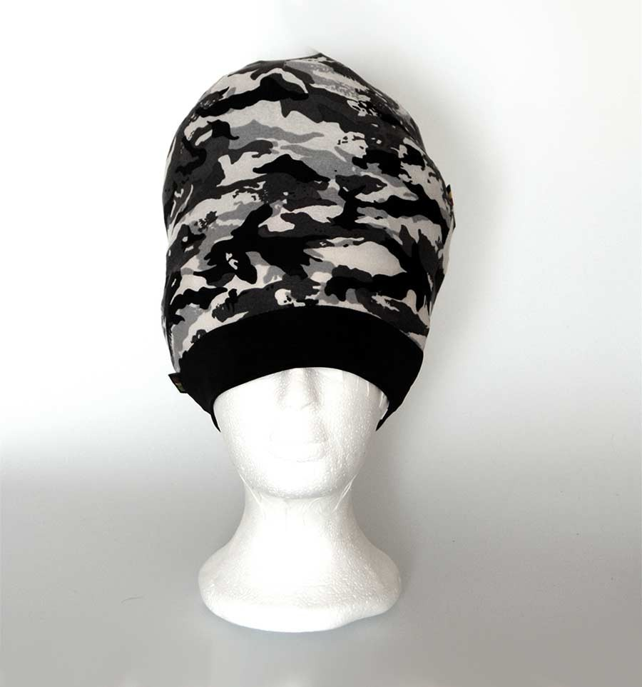 BLACK CAMO STRETCHY TAM